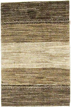Nain Trading 123x81 Authentic Persian Gabbeh Kashkuli Rug Beige/Dark Brown (Wool, Iran/Persia, Hand-Knotted)