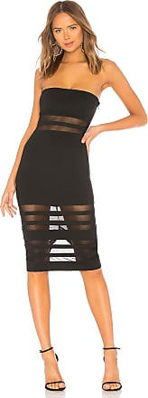 Superdown Magdalena Tube Mesh Dress in Black