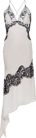 Kiki De Montparnasse silk and lace slip dress - NEUTRALS