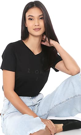 Zoomp Camiseta Zoomp Logo Preta