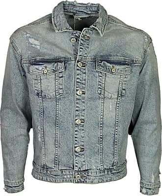 Only & Sons Mens New Ripped Denim Jacket Casual in Light Blue Denim Sizes XS-XL (X-Small)