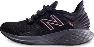 basket new balance femme noir et rose