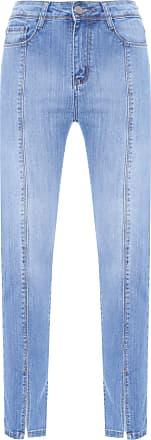 HELENA BORDON Calça Skinny Recortes - Azul