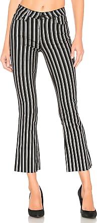 Paige Colette Crop Flare in Silver Stripe