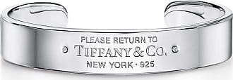 Tiffany & Co. Return to Tiffany narrow cuff in sterling silver with diamonds, extra large