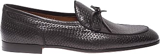 Doucal's Woven Leather Loafers, 43.5 Dark Brown