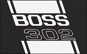 Fanmats Fan Mats Ford Mustang Boss 302 Nylon Area Rug Black, Size: 4 x 6 ft. - 16290