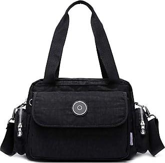 GFM Womens Nylon Cross Body Shoulder Bag Handbag (88) (S25-9825-KL)