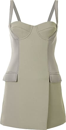 Dion Lee belted strap bustier mini dress - Green