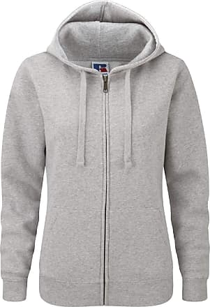 Russell Athletic Russell Ladies Premium Authentic Zipped Hoodie (3-Layer Fabric) (XL) (Light Oxford)