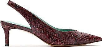 Blue Bird Shoes Scarpin Slingback Python - Vermelho