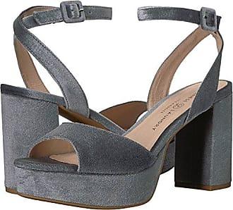 8e35b3f80074 Chinese Laundry Womens Theresa Heeled Sandal Steel Blue Velvet 9 M US
