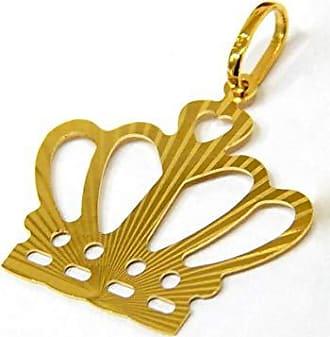 Prado Joias Pingente Em Ouro 18k Coroa Trabalhada Grande