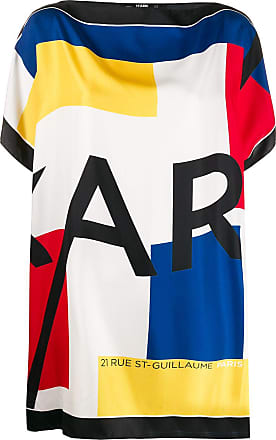 Karl Lagerfeld silk scarf tunic top - White