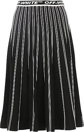Off-white Skirt for Women On Sale, Black, Viscose, 2017, 26 28
