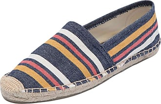 ICEGREY Womens Causal Loafer Flat Slip On Espadrille Red Orange Strips UK 3.5