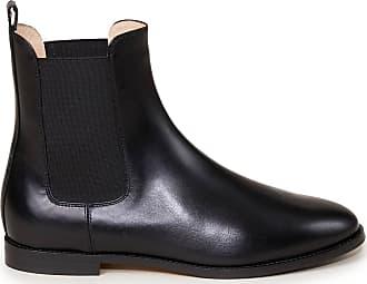 Unützer Chelsea Boots aus Glattleder Schwarz