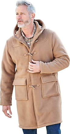 Chums Mens Borg Lined Duffle Coat Jacket Taupe 52
