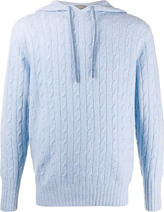 N.Peal Herringbone hooded jumper - Blue