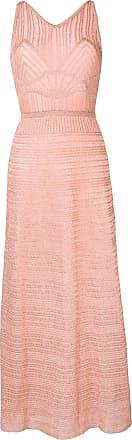 M Missoni Vestido longo metalizado - Rosa