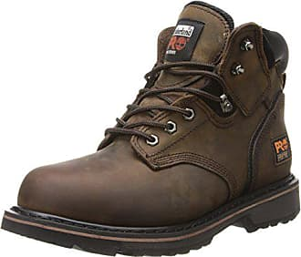 Timberland PRO Mens Pitboss 6 Steel-Toe Boot, Brown, 8 EE - Wide