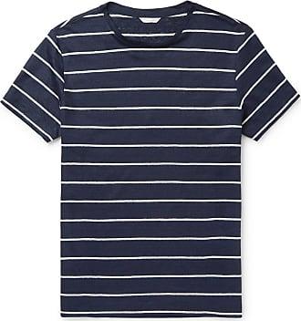 Orlebar Brown Sammy Striped Linen-jersey T-shirt - Navy
