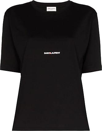 Saint Laurent Camiseta com estampa de logo - Preto