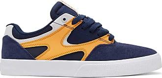 DC Mens Kalis Vulc Skate Shoe, Navy/Grey, 8 UK