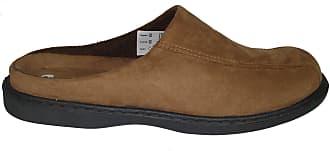 Zedzzz Mens Jarrow Suede Look Mules Slippers Brown Size 11