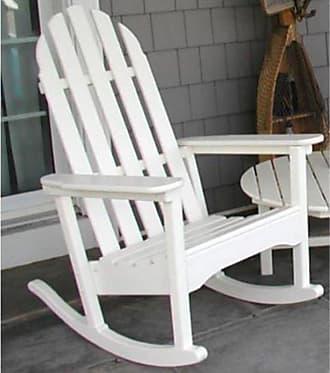 POLYWOOD Outdoor POLYWOOD Classic Bimini Recycled Plastic Adirondack Rocking Chair Hunter Green - ADRC100GR