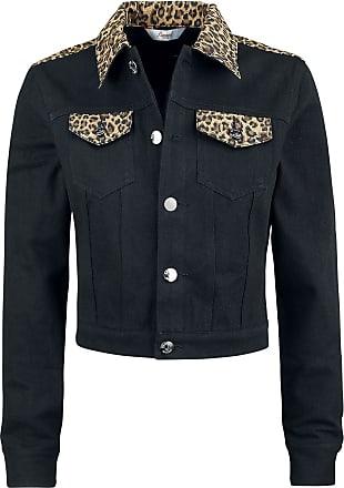 9ffd219b Banned Retro Rock n Roll Leopard Denim Jacket - Jakker - Dongerijakke -  svart