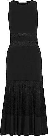 Rosetta Getty Rosetta Getty Woman Metallic Burnout-effect Stretch-knit Midi Dress Black Size L
