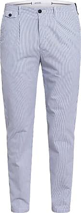 AT.P. CO Chino GASPAR Slim Fit - DUNKELBLAU/ WEISS GESTREIFT