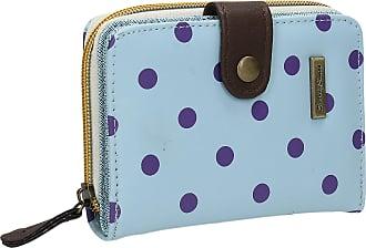 Swankyswans Bella Small Bi-fold Polka Dot Wallet Pastel Blue Purple Dot