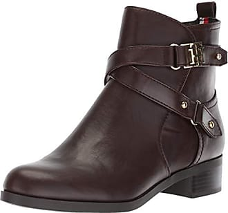 b89449565e7762 Tommy Hilfiger Womens Palmira Ankle Boot Brown 9.5 M US
