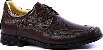 Doctor Shoes Antistaffa Sapato Masculino Linha Up (5 cm + alto) 5496 em Couro Floater Café Doctor Shoes-Café-39