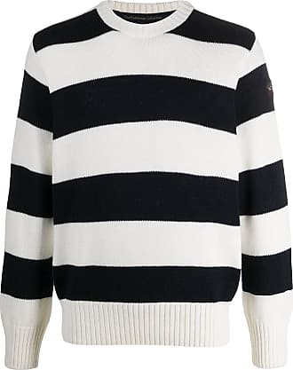 Paul & Shark striped-print crew neck jumper - Azul