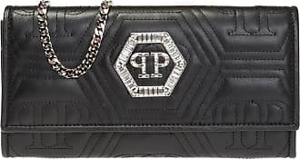 Philipp Plein Wallet On Chain Womens Black