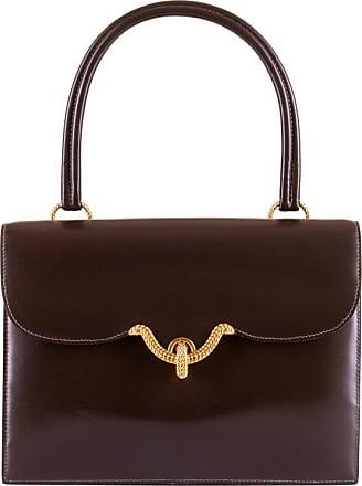 b9828348363d Hermès Rare Vintage Hermes sac Cordeliere In Dark Brown Box Leather   Gold  Hardware