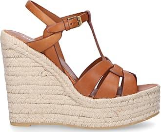 93fc01fc3fd Saint Laurent Wedge Sandals ST calfskin beige