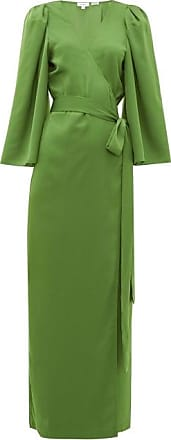 Rhode Resort Rhode - Elliot Wraparound Crepe Maxi Dress - Womens - Green
