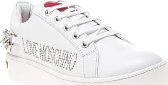 Love Moschino Studded Chain Lo Womens Sneakers White