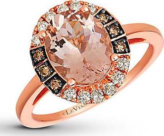 Le Vian Morganite Ring 1/4 ct tw Diamonds 14K Strawberry Gold