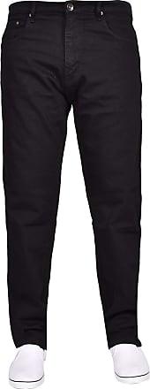 True Face Mens Jeans Straight Leg Denim Pants Zip Fly Classic Fit Trousers Black 36S