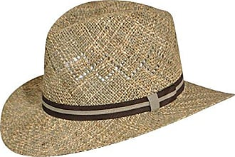 Country Gentleman Vented Linenweave Outback Hat, Natural, Small