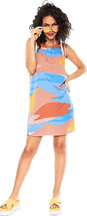 Lez a Lez Vestido Lez a Lez Curto Bali Azul/Bege