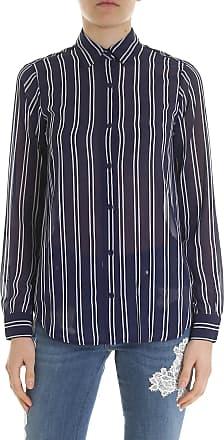 cfe6c7f4a53 Michael Kors Striped blue and white crepe shirt
