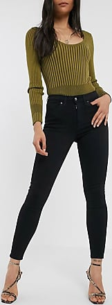 Topshop Jamie - Enge Jeans in Schwarz