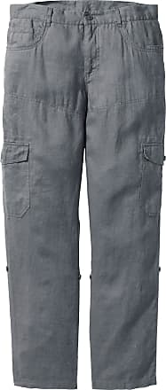 35227d770f Bonprix Pantalone cargo in puro lino regular fit (Grigio) - bpc bonprix  collection
