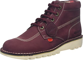 Kickers Mens Kick Hi Classic Boots, Purple Burgundy), 10.5 (45 EU)